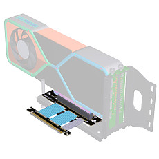 ADT-LINK PC Graphics Card PCIE 4.0 16x Extension Cable Flexible Full Speed 4.0 GPU Riser Cable Vertical Link 90 ° For ASUS ROG Chassis