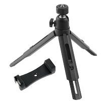 FEICHAO Mini Foldable Tripod with Cold Shoe 1/4'' Screw Ballhead Tripod for GoPro 9/8/7/6/5 Action Camera for SLR Camera Flash