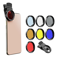 APEXEL APL37UV7F Smartphone Wide Angle Camera Lens Kit 37mm Full Color Filter+ CPL ND32+ Star Filter For iPhone Samsung Huawei Xiaomi Oneplus 7