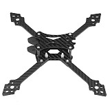 JMT X220 220mm Wheelbase Carbon Fiber Quadcopter Frame Kit 4mm Arms Support 5inch Propeller for FPV Racing Freestyle Drones