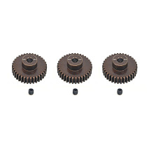 FEICHAO 3PCS/SET 48DP 3.175mm 13T-35T Metal Pinion Motor Gear for 1 / 10 RC Car ​Model 3.175mm Shaft Motor
