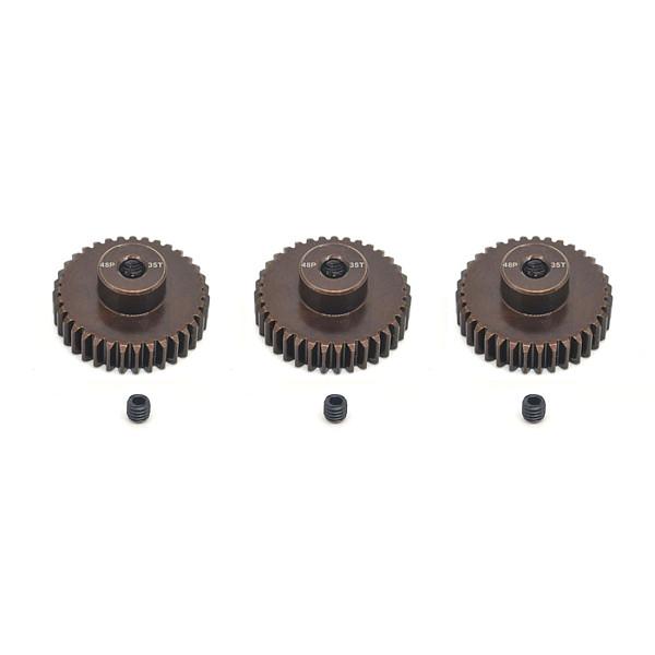 FEICHAO 3PCS/SET 48DP 3.175mm 13T-35T Metal Pinion Motor Gear for 1 / 10 RC Car Model 3.175mm Shaft Motor