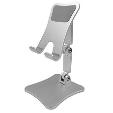 XT-XINTE 180° 3-Axle Adjustable Mobile Phone Holders Desktop Holders Alloy Dock Station for Universal Smartphone Stand Bracket