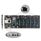 BTC-37 Mining Motherboard CPU Set 8 Miner Video Card Slot DDR3 Memory Adapter Integrated VGA Interface Low Power Consumption