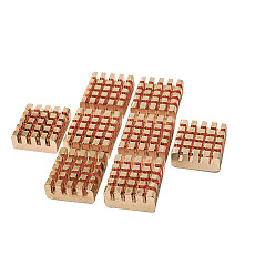 XT-XINTE 8PC 12*14*5.5 / 22*8*5 Pure Copper Heat Sink w/ Adhesive for Motherboards Graphics Cards and Other Chips