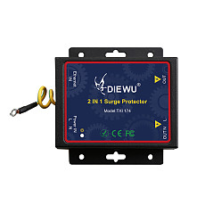 DIEWU TXI174 2 in 1 Surge Protective Device Gigabit Network 1000Mbps AC220V Protector with Dual RJ45 Port and Power Connector