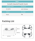 Sunnylifte Quick Release Stable Integrated Isolate Propeller Protector Guards Light Weight 89g for DJI FPV Racing Drone Quadcopter