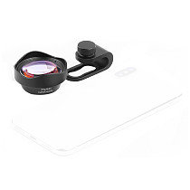 FEICHAO 75MM 10X Super Macro Lens Optical Glass Universal Phone Camera Lens External Phone Lens with CPL ND32 Lens Filter Kit