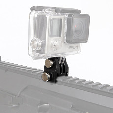 Action Camera Part Rail Mount for Picatinny Airsoft Shot Rifle Laser Mount Adapter for GoPro/EKEN/OSMO Action Camera Photography