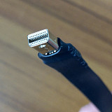 (ADT-Link)P3-P4 DP Interface Male To Female Extension Cord Displayport1.2 Angle Connection Flat Thin Soft Card Cable 32.4Gbps 8K(UHD)/60p