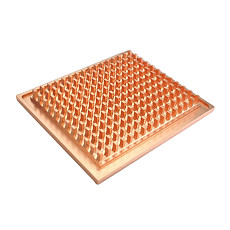 XT-XINTE HeatSink Pure Copper Radiator Notebook Bridge Chips IC 42 fin Copper Column Base Water Cooled Head Bottom Surface