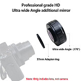 XT-XINTE 170 Degree Supper Wide Angle Lens with 37mm Adapter Ring for Sony ZV1 Digital Camera Photography Accessories Camera Lens