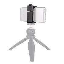 BGNing ABS Mobile Phone Clamp Tablet Fixing Clip Live Light Selfie Stick Phone Holder Desktop Bracket for Smartphone