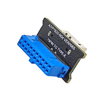 XT-XINTE USB 3.0 Front 19PIN to USB 3.1 Gen 2 Type-C Front Panel Header Type-E 20 to 19 Pin Adapter for Computer Mainboard