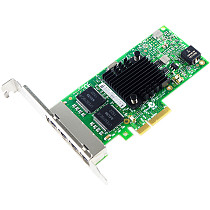 XT-XINTE PCIe 4Ports RJ45 Network Card with Intel I350AM4 Chip 10/100/1000Mbps PCIe x4 RJ45 LAN Adapter Converter Support Windows Server, Win 7/8/10/Visa, Linux, VMware