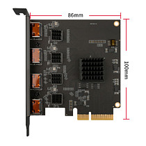 XT-XINTE 4 Channel HDMI-compatible PCIE Video Capture Card 1080p 60fps OBS Wirecast Live Broadcast Streaming Adapter 4 Ports