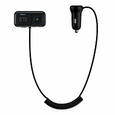 Baseus New Wireless FM Transmitter Bluetooth 5.0 Receiver USB Car Charger MP3 Player