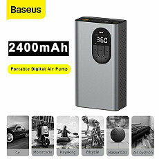 Baseus New LED Electric Air Compressor Car Tire Inflator Portable Ball Pressure Pump Portable