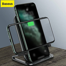 Baseus New Fast Charger 15W Qi Wireless Charger With USB Cable Stand Stabilizer For Phone