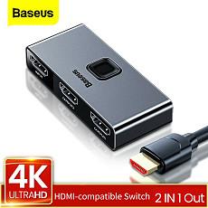 Baseus New HDMI Switcher 4K 60Hz Bi-Direction Audio Adapter for PS4 HDTV XBOX Switch