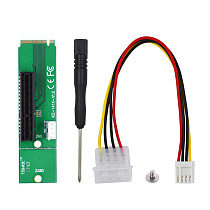 XT-XINTE for NGFF M.2 to PCI-E 4x 1x Slot Riser Card Adapter M2 to PCIE X4 X1 Converter For Bitcoin Litecoin Miner Mining