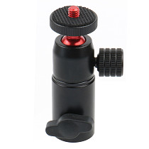 BGNing-Mini Aluminum Alloy Ball Head Metal Tripod Adapter with 1/4 Inch Screw for Mobile Phone Camera Light Support Flash Type B