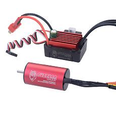 Surpass Hobby KK Combo 2040 2280KV 3200KV 3900KV 4480KV Brushless Motor w/35A ESC for Traxxas HSP Tamiya Axial 1/16 1/18 RC Car
