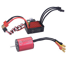 Surpass Hobby 2430 5800KV Brushless Motor + 25A Brushless Speed Controller ESC Combo Waterproof For Traxxas HSP Tamiya Axial 1/18 & 1/16 RC Car