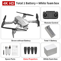 LYZRC L106Pro 5G WIFI FPV GPS With 4K HD Dual Camera Two-axis Mechanical Anti-shake Gimbal Optical Flow Positioning Foldable RC Drone RTF Quadcopter
