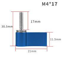 BGNing M4*17 Iron Galvanized Single Wing Hand Expansion Screw For GoPro7/8/MAX GoPro Full Series/DJI/SLR Camera