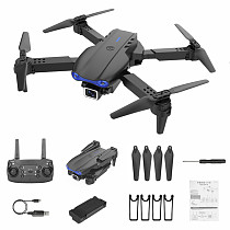 FEICHAO K3 Drone 4K HD Dual Camera Foldable Air Pressure Altitude Holding Drone WiFi FPV Real Time Transmission RC Quadcopter Toy