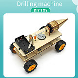 FEICHAO Wooden Electric Robot Car Miniature DIY Handmade Kids Science Experiment Toy for Children Gift