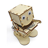 FEICHAO DIY Steam Toys Environmental Wood Model Swallow Coins Robot Puzzle Toy Technology Education Science Kids Toy Kit