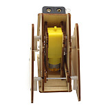 FEICHAO DIY Wooden Electric Science Walking Robot Toy Model Kit Assembly Toys for Children Physics Experiment Educational Toys Gift