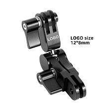 BGNing CNC Tripod Mount 360° Arm Magic Hand Extension Adapter Swivel Joint Helmet for Gopro Hero 9 8 7 6 5 for DJI Camera Accessories
