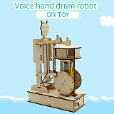 FEICHAO Voice Control Robot for Children Educational Science Experiment Technology Toy DIY Handmade Drummer Model Kids Toys