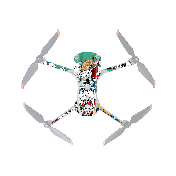 Sunnylife PVC Stickers Protective Film Scratch-proof Decals Skin Drone Body Remote Control Protector for DJI Air 2S Drone Accessories