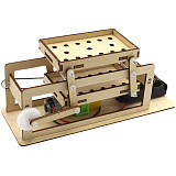 DIY Electric Wooden Sieve Model Student Technology Making Inventions Scientific Laboratory Equipment Science Educational Toys