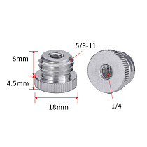 FEICHAO Male Screw Mount Aluminum Alloy Adapter Screw for Laser Level Meter Camera Tripod Adapter Screws