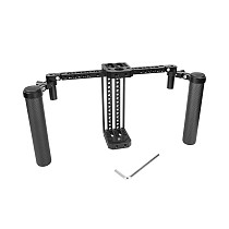 FEICHAO Adjustable 7  LCD Monitor Cage Rig with Dual Carbon Fiber Handle Support Bracket for SmallHD 700 Series Photography Accessories