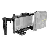 FEICHAO Universal Monitor Cage Kit with Dual Aluminum Alloy Cheese Handles for 7inch Camera Monitors