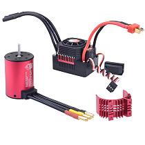 Surpass Hobby Waterproof Kit 3650 3100KV Brushless Motor w/ Heat Sink 45A ESC for 1/10 RC Car