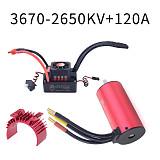Surpass hobby Jingang Waterproof Series 3670 Brushless Motor + 120A Waterproof ESC + Cooling Shell Brushless Set