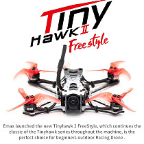 Emax Tinyhawk 2 Freestyle Bnf 2.5 Inch 2s 200mw Runcam Nano2 Fpv Racing Drone High-speed Rc Quadcopter Control Racing Drone