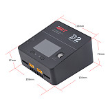 ISDT D2 MarkⅡ AC 200W 12A 2-6S Dual Channel Battery Balance Charger For Lilon LiPo LiHV NiMH Pb Gaoneng Tattu Battery RC Models