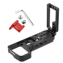 BGNing L Plate Bracket w 1/4 Screw Hole Vertical Shooting Mount for Microphone LED Light Vlog Plate for A7R3 A7M3 A9 DSLR Camera