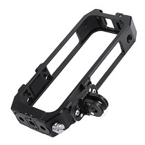 FEICHAO Metal Panoramic Camera Cage for Insta360 ONE x2 Rig Housing Frame Magnetic Cover Foldable Tripod Adapter with Cold Shoe Mount