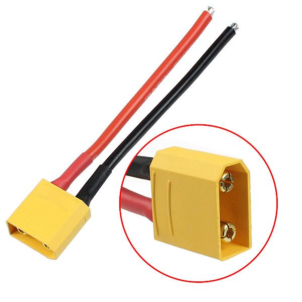 100pcs FEICHAO RC Battery Cable T90 Head Welding Wire 10CM Male Female Connector Plug Cable for RC Racing Drone