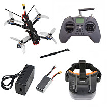 QWINOUT F4-V2 178mm Quadcopter DIY FPV Racing Drone Kit F4 2-6S AIO Flight Controller 35A Brushless Motor Support Card Video Recording