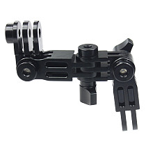 FEICHAO Helmet Extension Pivot Arms Adjustable Joint Tripod Adapter Mount Connector for Gopro Hero 9 8 7 5 Max Yi Insta360 ONE R Camera